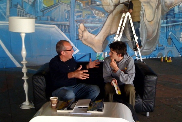 Dave Gibbons and AYB shoot the breeze
