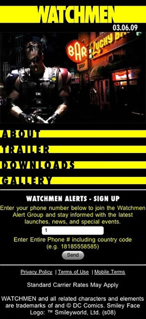 Watchmen Mobile Internet site
