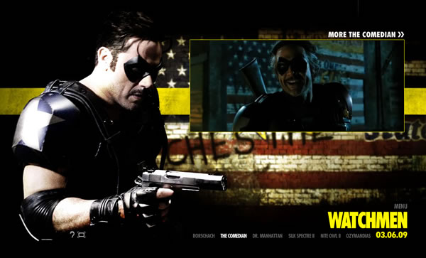 The updated WB Watchmen movie Web site