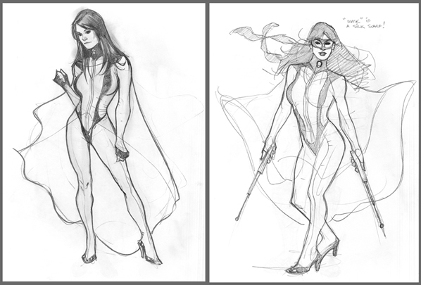 Silk Spectre II sketch