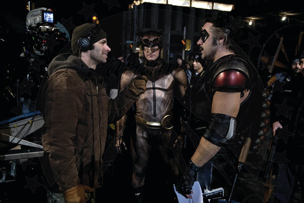 Zack Snyder, Patrick Wilson and Jeffrey Dean Morgan