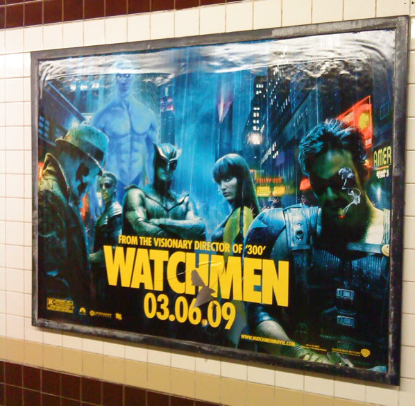 Watchmen subway ad