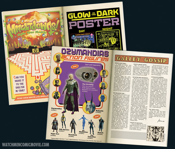 Ads inside the Tales of the Black Freighter comic