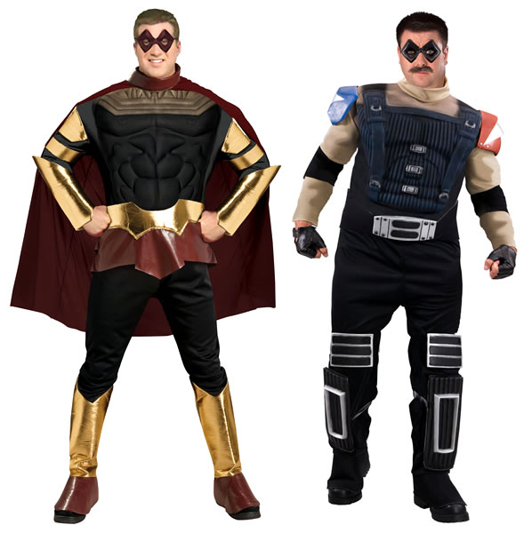 Ozymandias and Comedian costumes