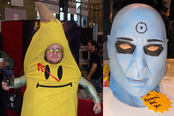 C.C. Banana and a Dr. Manhattan Mask