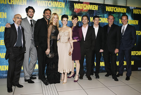 The cast and crew of Watchmen at the UK premiere